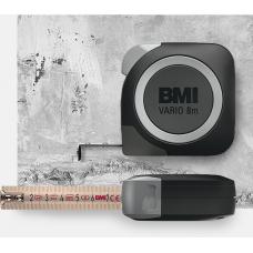 Рулетка BMI 411 VARIO stainless (нержавеющая сталь), 8 m