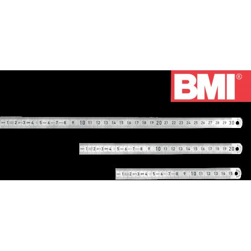 Линейка стальная BMI 962 120 SR, 200 мм