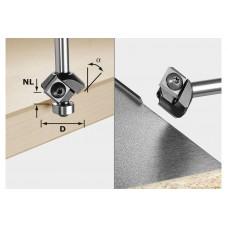 Фреза для для профилирования фасок со сменными ножами HW S8 HW 45° D27 12x12 KL