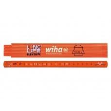 Метр складной Longlife Electrician 2 м Wiha 4102008 42068 оранжевый